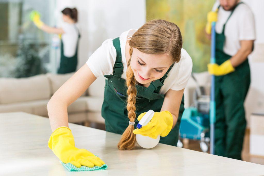 Att arbeta med städning